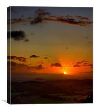 Sunset On Ridge Hill, Canvas Print