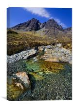 Red Cuillin Mountains on Skye, Canvas Print