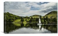 Sailboat on Ullswater, Canvas Print