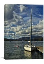 Yacht on Windermere, Canvas Print
