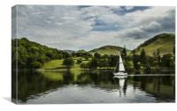 Ullswater in oils, Canvas Print