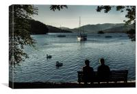 Evening on Windermere, Canvas Print