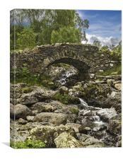 Old Stone Bridge, Canvas Print