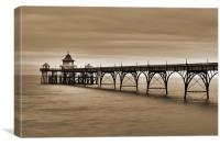 Clevedon Pier, Canvas Print