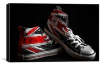 Union Jack Converse, Canvas Print