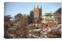 Hereford Cathedral Landscape, Canvas Print