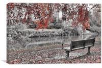 Autumn beside the Wye, Canvas Print