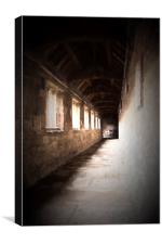 Cathedral cloister, Canvas Print