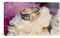 Wedding rings, Canvas Print