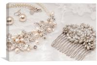 Wedding jewellery, Canvas Print