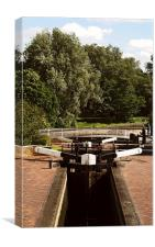 Canal locks stroll, Canvas Print