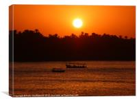 The Nile Sunset, Canvas Print