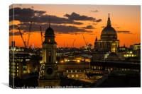 St.Paul's Cathedral Sunset, Canvas Print