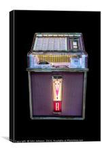 "Rock-Ola Jukebox Model 1493 ""Princess"" made in1962, Canvas Print"