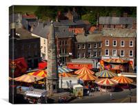 The fair comes to town, Canvas Print