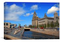 World heritage Liverpool waterfront, Canvas Print