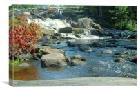Magnetawan River Falls, Canvas Print