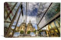 St Pauls Reflections, Canvas Print