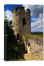 Tour du Moulin, Chateau Chinon, Canvas Print