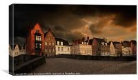 Spinolarei at dusk, Bruges, Canvas Print