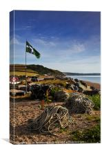 Flag and fishing gear, Beesands
