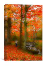 Walking by the Stream, Canvas Print