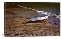Beached Fishing Dinghy, Canvas Print