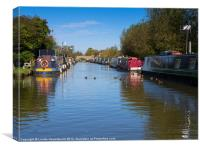 The Oxford Union Canal at Heyford Wharf, Canvas Print