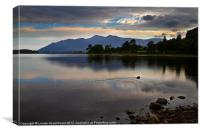 Skiddaw and Derwentwater from Kettlewell, Canvas Print