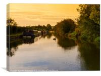 Sunrise on the Grand Union Canal in Berkhampsted, Canvas Print