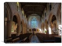 Interior of St Marys Church in Rye, Canvas Print