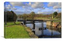 Ulverston Canal, Cumbria, UK, Canvas Print