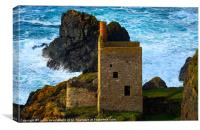 Engine houses at Botallack, Cornwall, Canvas Print