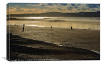 The beach at Mounts Bay, Cornwall, Canvas Print