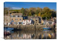 The inner harbour at Padstow, Cornwall, Canvas Print
