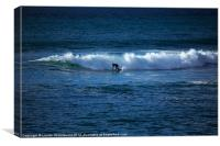 Surfer at Porthleven, Cornwall, Canvas Print