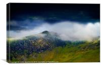 Clouds over Bull Crag and Maiden Moor, Canvas Print