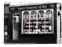 Sweet Memories of Rye, East Sussex, Canvas Print
