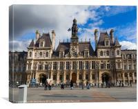 Hotel de Ville, the Paris City Hall, Canvas Print
