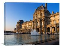 Louvre Pavilion de Richelieu, Paris, Canvas Print