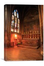 Chapel in St Severin Church, Paris, Canvas Print