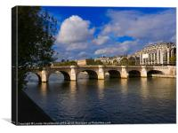Pont Neuf over the Seine River, Paris, Canvas Print