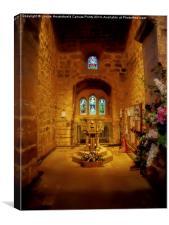 Interior of St Andrews Church, Corbridge, Canvas Print