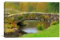 Stone packhorse bridge in Watendlath, Canvas Print
