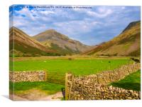 Wasdale Head and Great Gable, Lake District, Cumbr, Canvas Print
