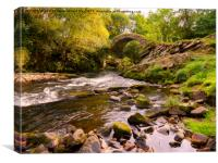 Glenlivet packhorse bridge, Cairngorms National Pa, Canvas Print