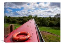 Edstone Aqueduct, Stratford-on-Avon Canal, Warwick, Canvas Print