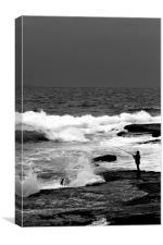 bondi beach fisherman, Canvas Print