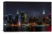 Lightning Over New York III, Canvas Print
