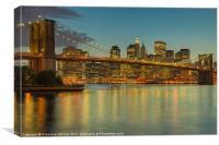 Brooklyn Bridge Twilight I, Canvas Print